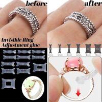 12pcs/set Invisible Ring Size Reducer Clip Sizer Resizer Adjuster Guard Snugs