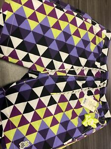 NEW Psycho Bunny Alexander Swim Trunks - XL / Varsity Purple and Green