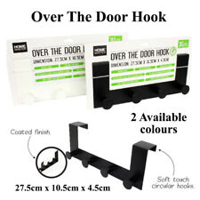 Over-The-Door Hook Rack Metal Hanger Storage Holder Hanging Coat Hat Towel Bag