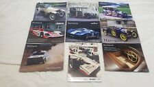9 X Bonhams Racing Car Auction Final Call Catalogues