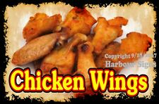 Decal (Choose Your Size) Chicken Wing Food Sticker Restaurant Concession