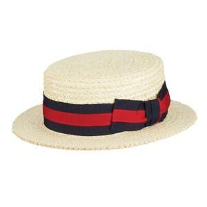 Scala Men's Dress Straw Laichow Braid Boater Hat # X-Large