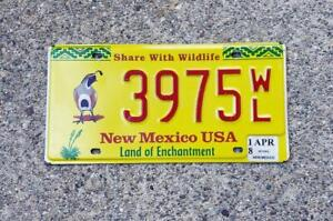 REAL NEW MEXICO STATE LICENSE PLATE SHARE WITH WILDLIFE AUTO NUMBER CAR TAG BIRD