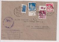 Bauten, 93wg-OR u.a., + geschn.Notopfer, Zust.Urkunde Aurich - Emden, 22.1.49