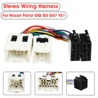 Car Stereo Radio ISO Wiring Harness Loom Adaptor Connector For Nissan Patrol GU7