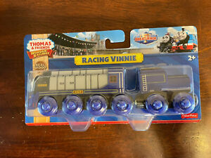 2015 Fisher Price Thomas Train Wooden Racing Vinnie! NEW!