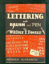 1940a Walter Foster Lettering illustrations Alphabets Pen & Brush