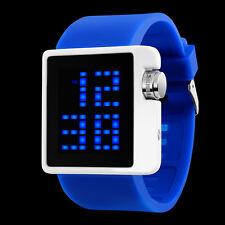 Fashion Waterproof Men's Boy LED Digital Date silicone Sport Wrist Watch Quartz