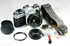 New ListingCanon Ae-1 Camera and 50mm f1.8 - No Squeal - New Seals - Hippie Strap