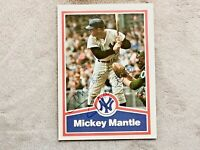 MICKEY MANTLE SIGNED AUTOGRAPHED CARD WITH COA NEW YORK YANKEES