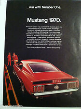 1970 FORD MUSTANG MACH 1 ORIGINAL RUN WITH NUMBER ONE AD - FASTBACK
