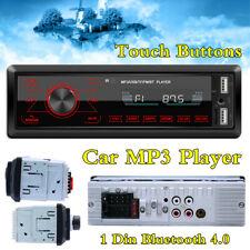 Botones táctiles 1DIN Coche Radio Reproductor de MP3 unidad principal BT FM U-disk RCA Audio AUX-IN