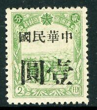 China 1937 Manchukuo 2 Fen Local Overprint Mint K289 ⭐⭐⭐⭐⭐⭐