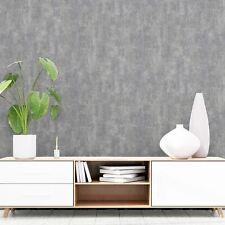 Organic Stone Industrial Concrete Metallic - Dark Grey 902109 Arthouse Wallpaper