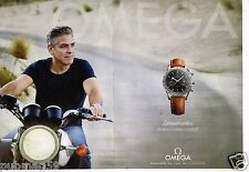 Publicité Advertising 2015 (2 pages) La Montre Omega Speedmaster George Clooney