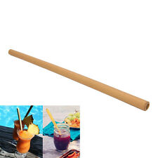 1Pc Wood Straws Organic Bamboo Pattern For Party Wedding Biodegradable  IO