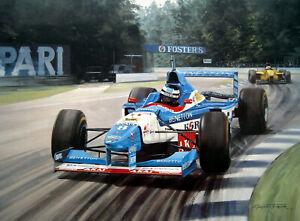"Graham Turner print - ""Return To Victory"" - Signed by Gerhard Berger"