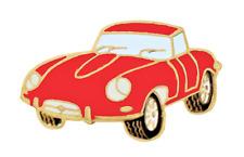Jaguar E Type Red Pin Badge