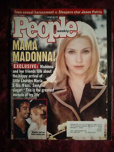 PEOPLE October 28 1996 MADONNA JASON PATRIC CLAIRE BLOOM BRETT FAVRE