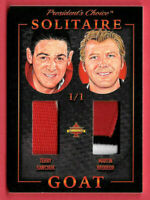 2020 Terry Sawchuk - Martin Brodeur President's Choice Solitaire 1/1 Dual Relic