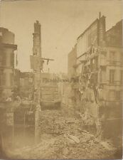 Ruines Parigi ? Francia Vintage albumina ca 1870