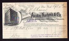 1904 NEW YORK*AUSTIN NICHOLS & CO*IMPORTERS*WHOLESALE GROCERS*HUDSON JAY STAPLE