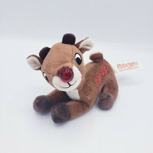 Rudolph The Red Nosed Reindeer Plush Dan Dee Musical Lights Up 5 Inches New