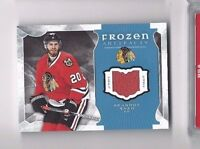 2015-16 UD Frozen Artifacts jersey hockey card Brandon Saad, Chicago Blackhawks