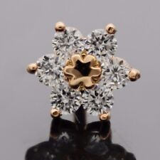 14K ROSE GOLD IP SIMULATED DIAMOND DAISY FLOWER CARTILAGE TRAGUS HELIX STUD