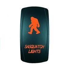 Orange Dual Led Backlit Rocker Switch Laser Etched 20A 12V Led Sasquatch Offroad