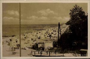 KÖLPINSEE LODDIN Usedom um 1930/35 Echte Photographie Ostsee Strand Ocean Beach