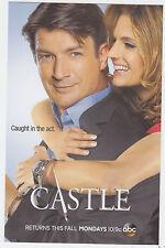 2013 ABC CASTLE TV SERIES PROMO CARD NATHAN FILLION STANA KATIC RICHARD KATE