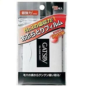 [Vol.Discount] Gatsby Oil Blotting Paper Oil Clear 70 sheets Mandom FS JP Import