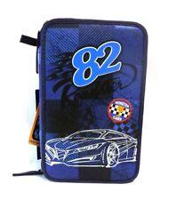 Depesche 6521 A Monster Cars Federtasche blau Racing Auto 3 fach Schulmäppchen A