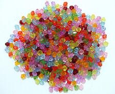100pz  misti perline bicono Acrylic 6mm colori vari