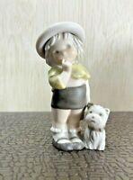 Vintage Enesco 1996 Kim Anderson Girl and Dog Figurine, # 175374