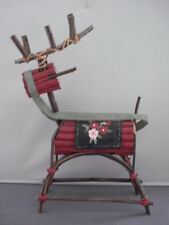 Deer Ornament Decorated Wooden Folk Art W71750 37