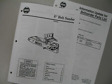 Shopsmith Belt Sander Manual 845231 with Parts List, User's Guide