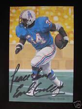 Earl Campbell #34 signed Houston Oilers HOF NFL Goal Line Art Card JSA