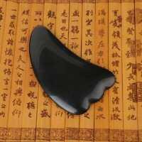Black Buffalo Horn Gua Sha Board Guasha Acupuncture Cure Massage Tool JA