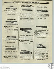 1919 PAPER AD Press Button Pocket Knife Knives Business Barlow OVB Our Very Best