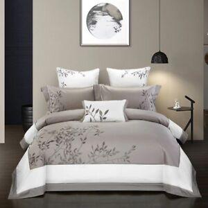 Royal Luxury Premium Egyptian Cotton Duvet Cover Bedding Sets KING / QUEEN 4Pcs