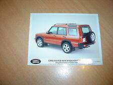 PHOTO DE PRESSE ( PRESS PHOTO ) Land Rover Discovery Td5 XS de 1998 R0128