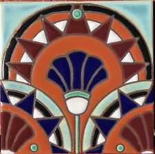 Hand Painted Art Deco Craftsman Tiles available in 6x6 or 5x5 & Custom Colors