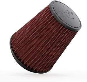 K&N Universal Clamp-On Air Filter Washable Replacement Round Tapered RF-1044 New