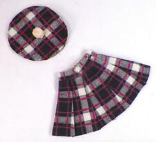 Kellogg's Grown Up Doll Plaid Skirt & Beret Flannel Vintage Doll Clothes