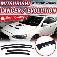 "For 08-17 Mitsubishi Lancer Slim Sun Window Visor Dark Smoke Sun Guard ""Lancer"""