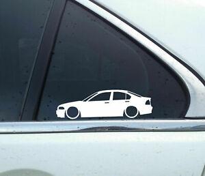 2X Lowered car stickers for Bmw E46 3-series sedan 1999-2002,320i,328i | L206