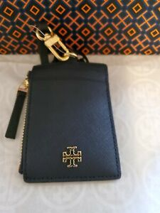 TORY BURCH EMERSON LEATHER, TORY NAVY COLOR LANYARD/I.D. CASE;BNWT;RETAIL $115