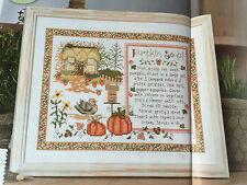 CROSS STITCH CHART Pumpkin Soup Recipe Autumn Sampler Picture PATTERN ONLY